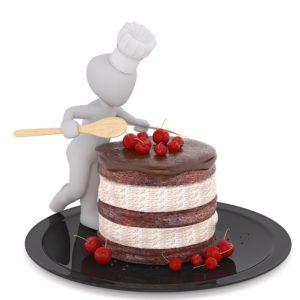 ケーキを食べるひと